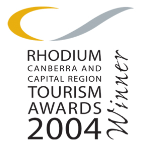 Winner at the 2004 Canberra and Capital Region Tourism Awards