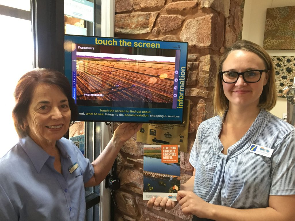 Kununurra VIC Sales and Marketing Lisa McDonnell with Training Manager Jill Buckley