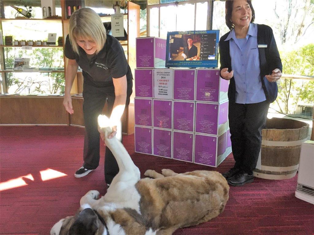 Sobels Winery - Mandy Jill & Archie (dog)