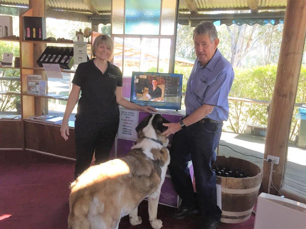 Sobels Winery - Mandy, Richard & Archie (dog)